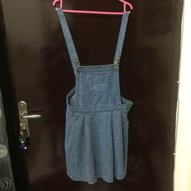 Denim skirt jumpsuit