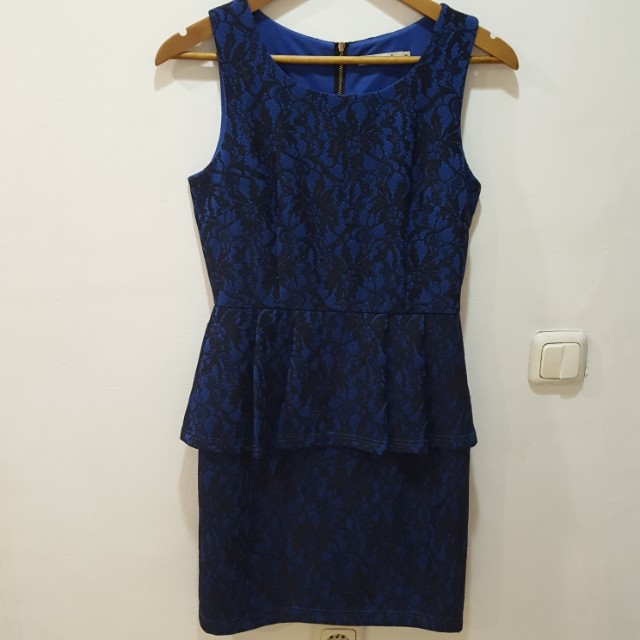 Ecole Luxury Peplum Dress