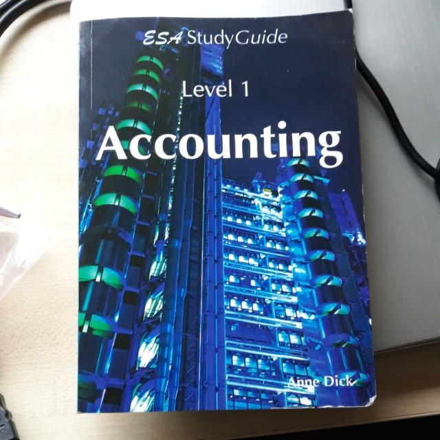 ESA Accounting Study Guide