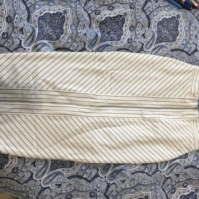 Forcast striped pencil skirt