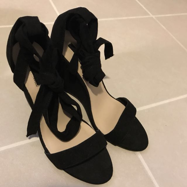 Forever 21 tie up wedge sandals