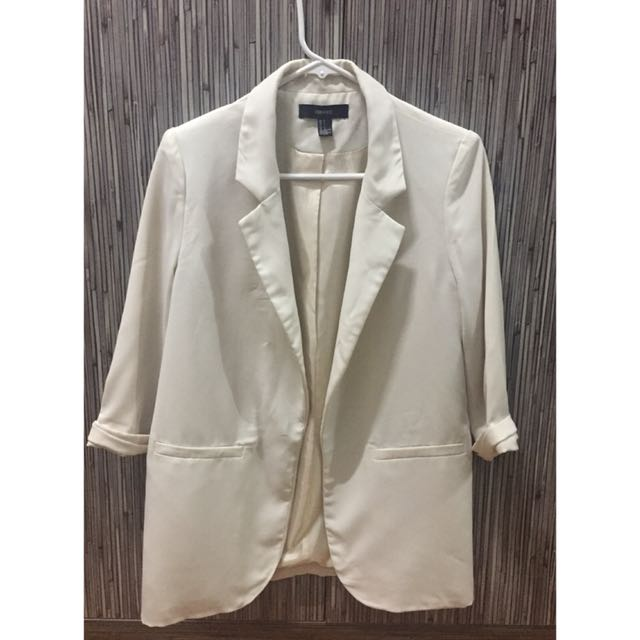 Forever 21 White Suit Jacket