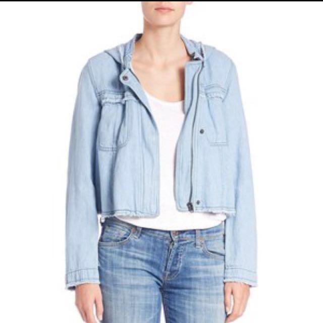 Free People Cropped Soft Jean Jacket