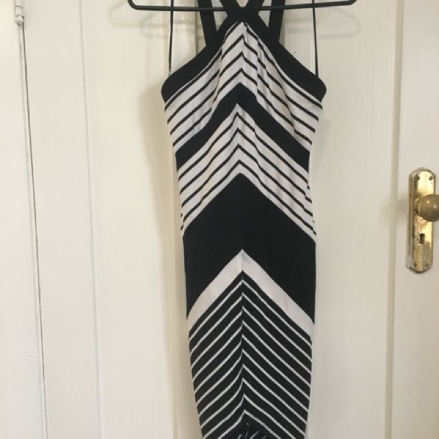 Fresh Soul striped midi dress brand new