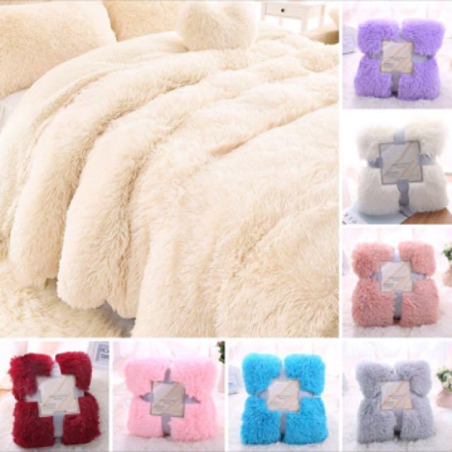 Fur fluffy blanket