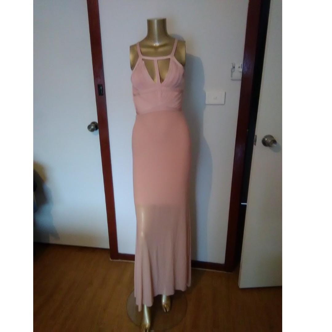 GASP Designer Apricot Bandage Dress Size AUS 12/L