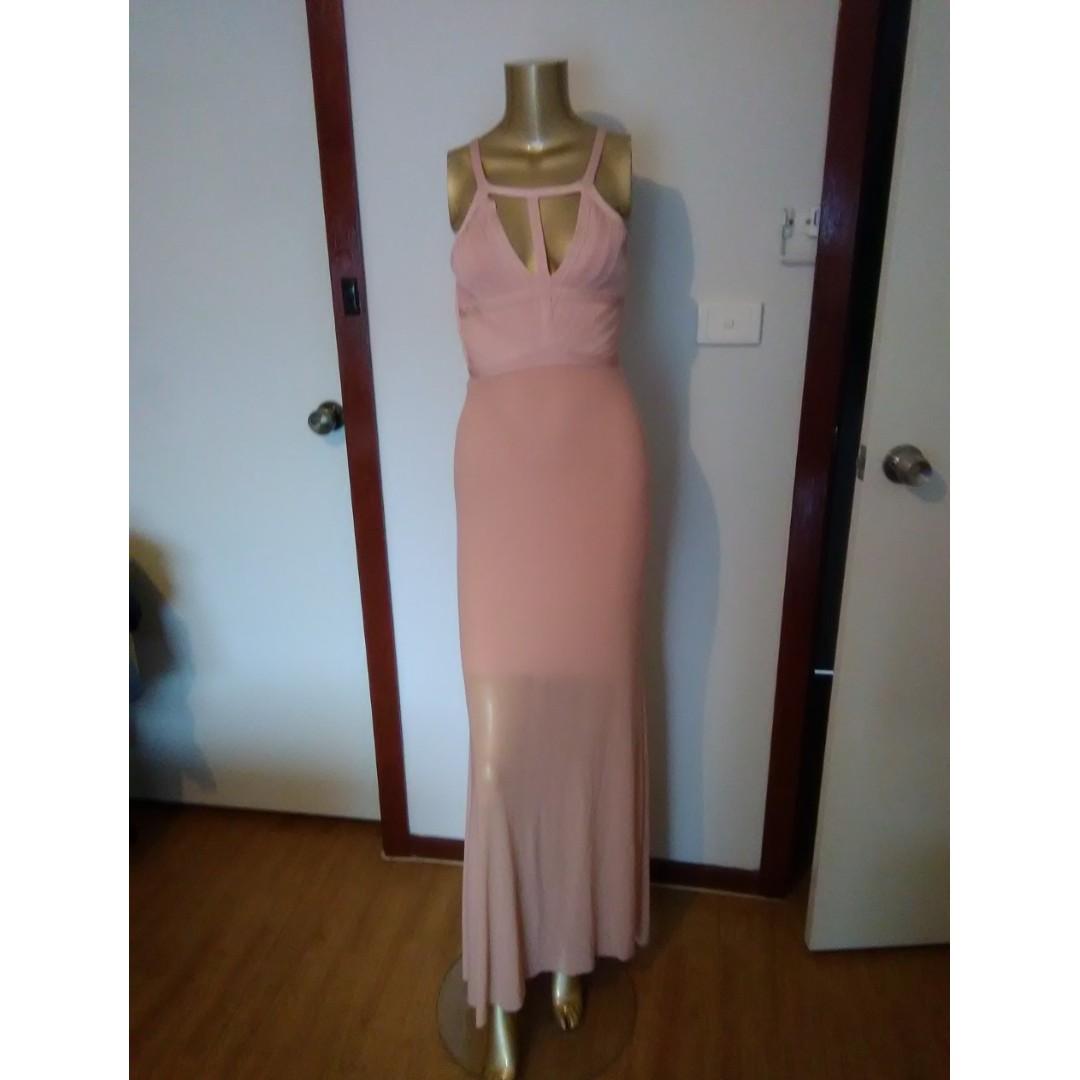 GASP Designer Apricot Bandage Dress Size AUS 8/S