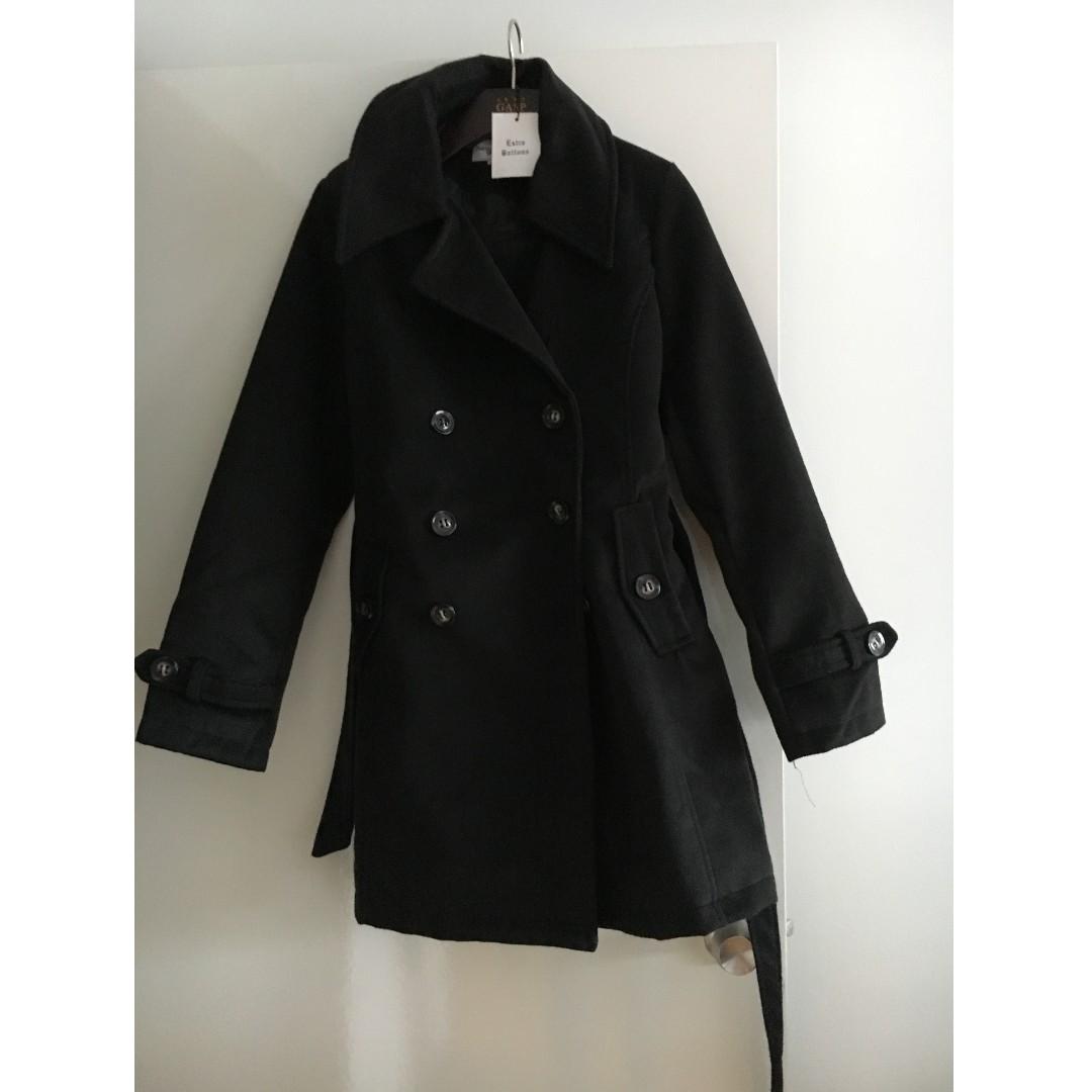 GASP Designer Black 100% Wool Jacket Size AUS 12-14/XL