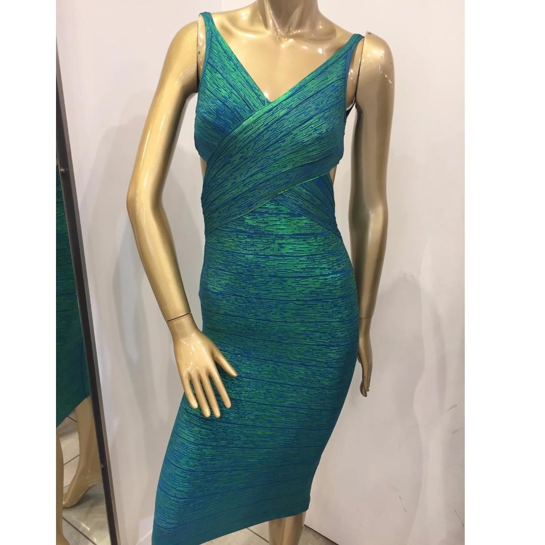 GASP Designer Green Bandage Party Formal Club Dress Size AUS 6/XS