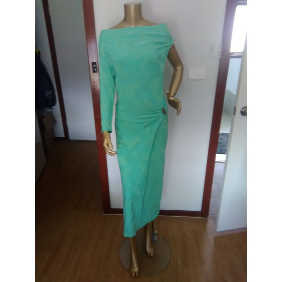 GASP Green One Shoulder Dress Size AUS 10/M