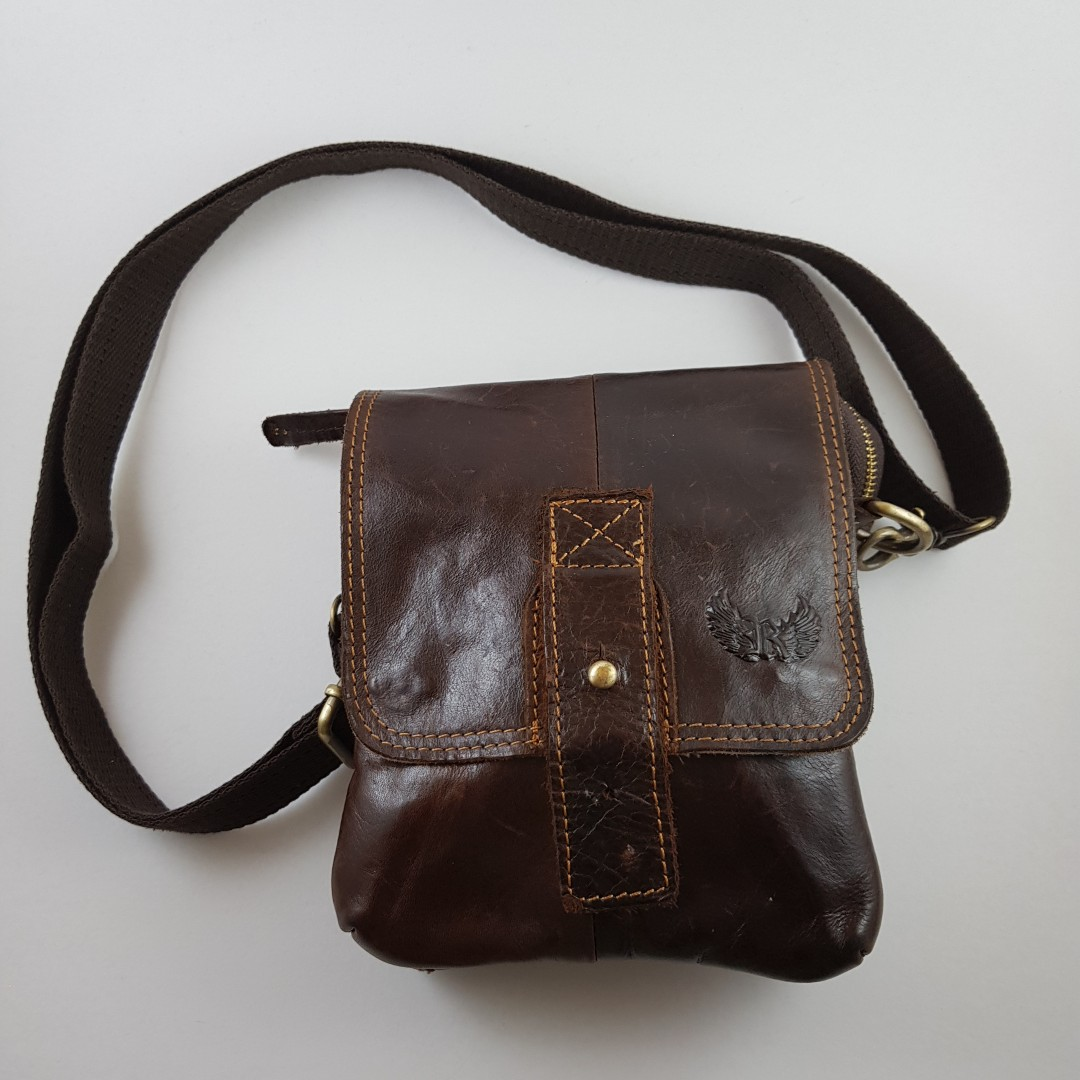 843740a3c48f Genuine Leather Cross Body bag Waist Pouch (unisex)