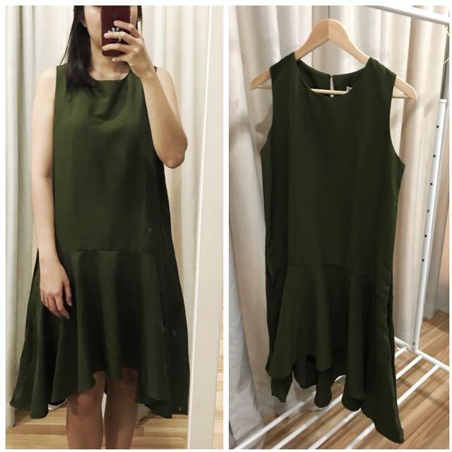 Green olives dress
