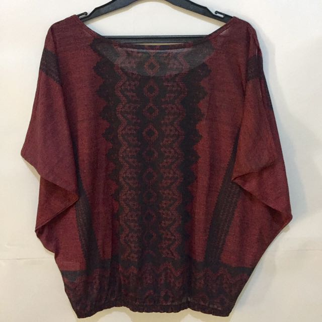 Guess Triball on Maroon Blouse