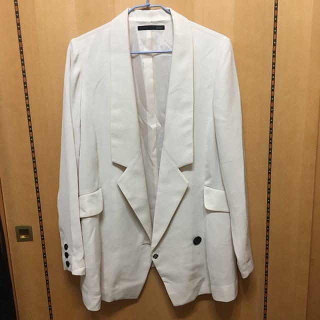 日牌Heather米白雪紡西裝外套