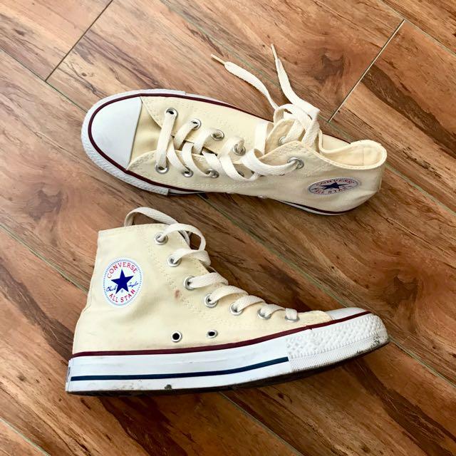 High top cream color converse