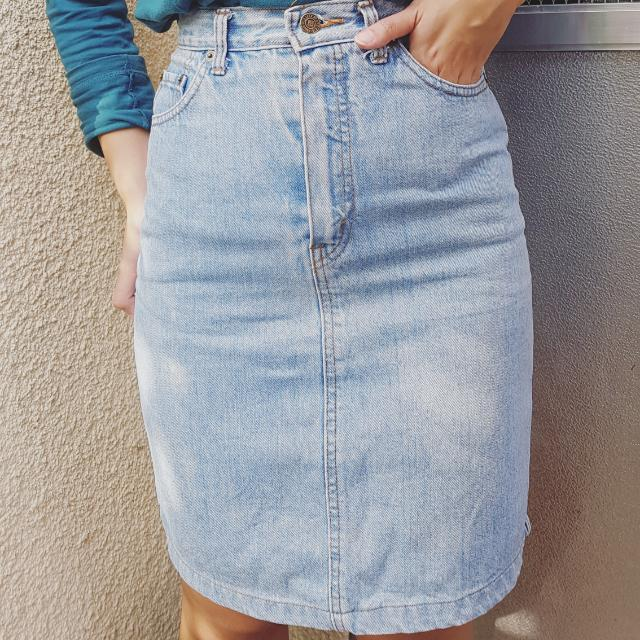 HQ Denim Pencil Skirt