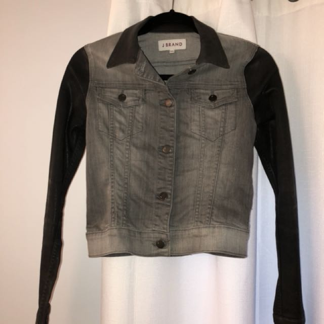 JBrand denim jacket size xsmall black and grey