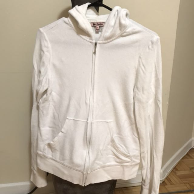 Juicy Couture white terry jacket. Size- large