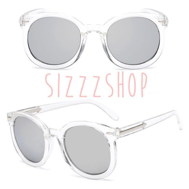 Kacamata transparant sunglasses silver