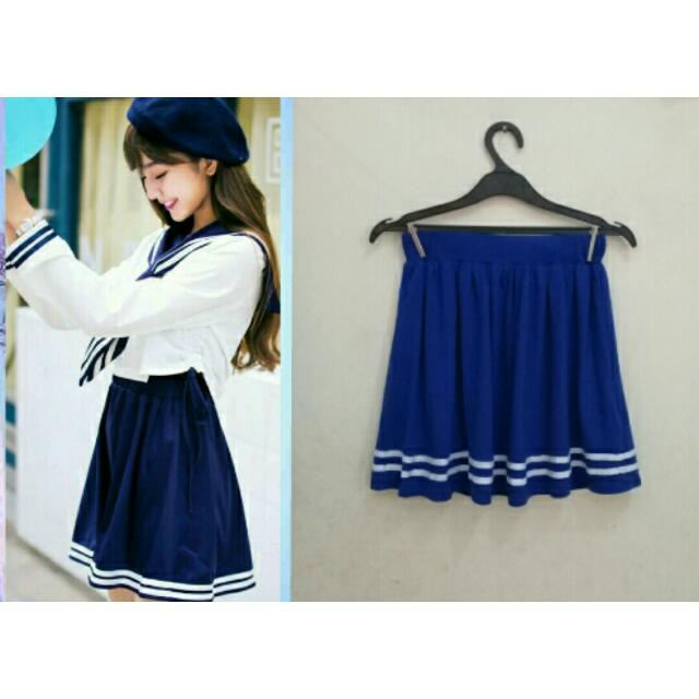 Kawaii Blue Sailor Skirt