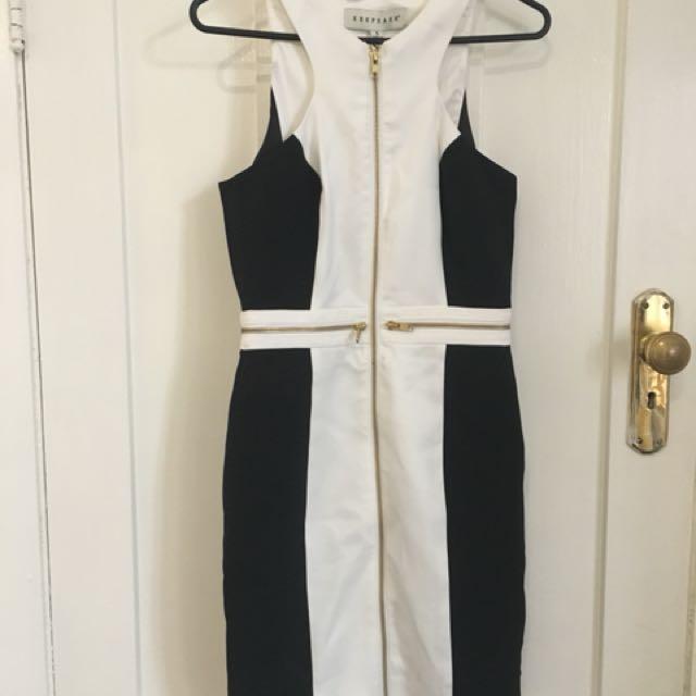 Keepsake zip detail corporate dress