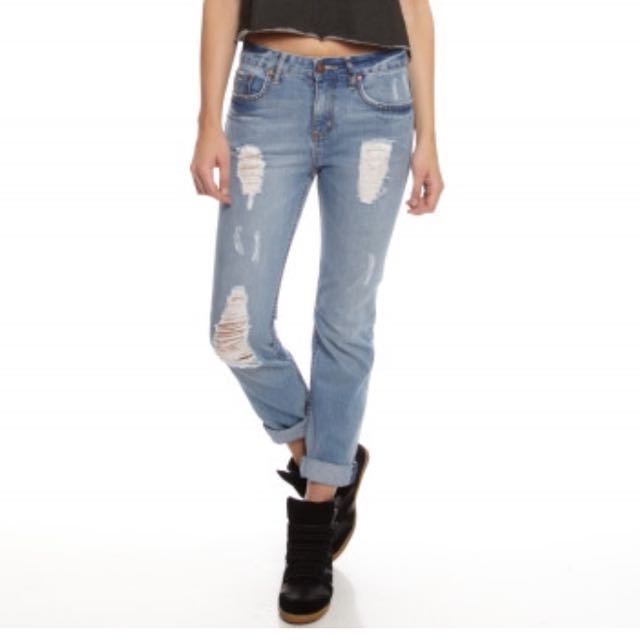 Lee denim boyfriend Dylan jeans in Brooklyn blue