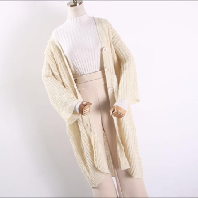 Long Beige Autumn Jacket
