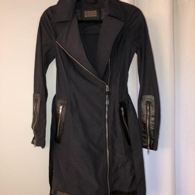 Mackage blue trench coat size xxs