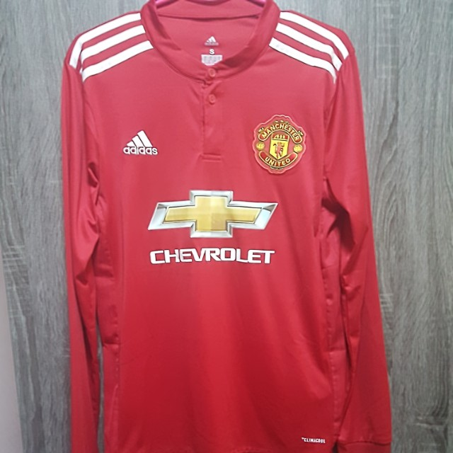 Manchester United 17/18 Jersey long sleeve home kit, Sports