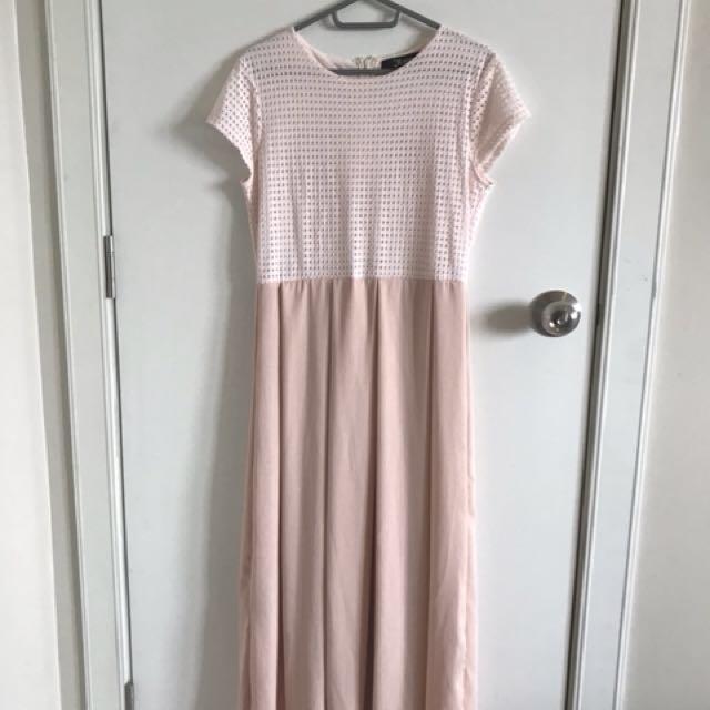 Meg pink long dress