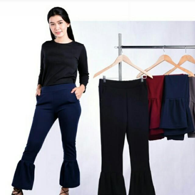 ... Alicia Celana Kulot Scuba 34 Kulot Pants Navy Blue Daftar Update Source photo photo photo
