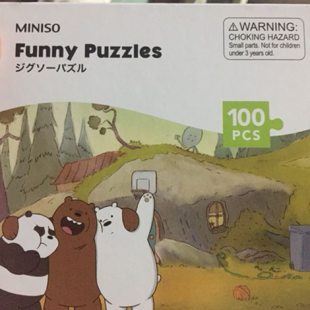 Miniso WE BARE BEARS funny framed puzzle