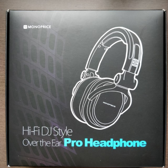 076b281c41f Monoprice 8323 Premium Hi-Fi DJ Style Over-the-Ear Pro Headphones with Mic,  Electronics, Audio on Carousell
