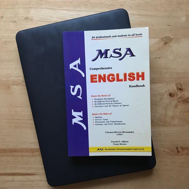 MSA English Handbook/ Reviewer