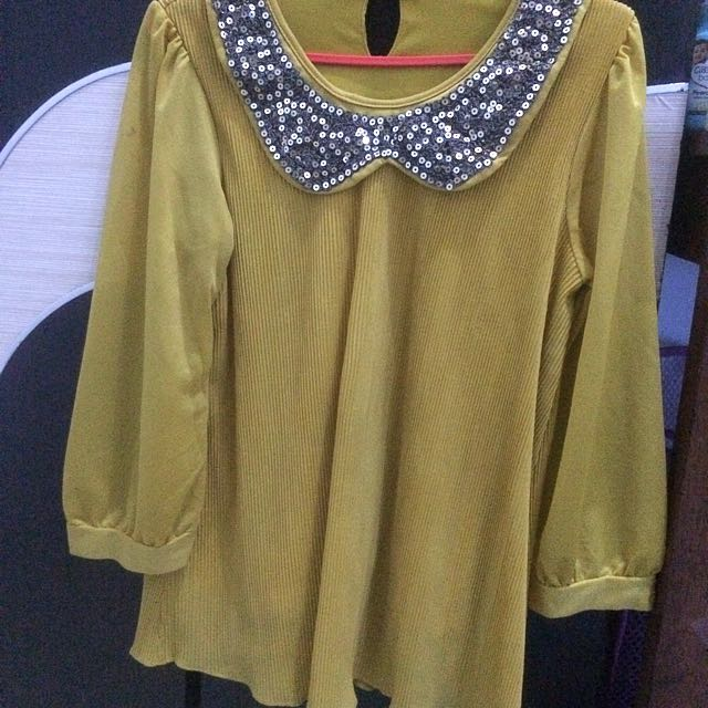 mustard blink blouse