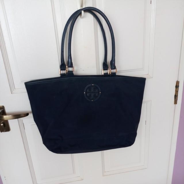 4fe6c4111ca Authentic Navy blue Tory Burch work bag