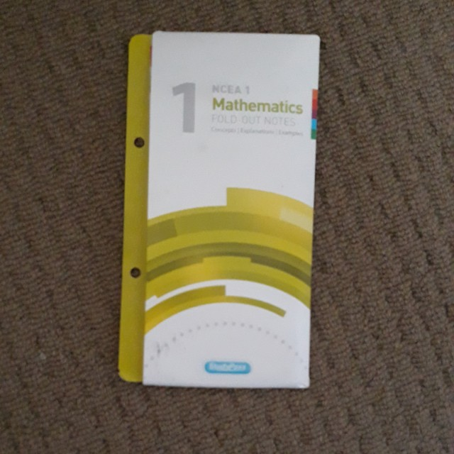 NCEA Level 1 Maths Fold-Out Notes