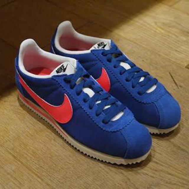 Nike Cortez Nylon Blue Jay Red Solar