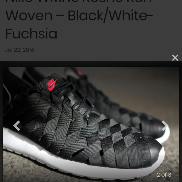 fee31e2fd0209 Nike Roshe Run Woven (Black Fuchsia Force)