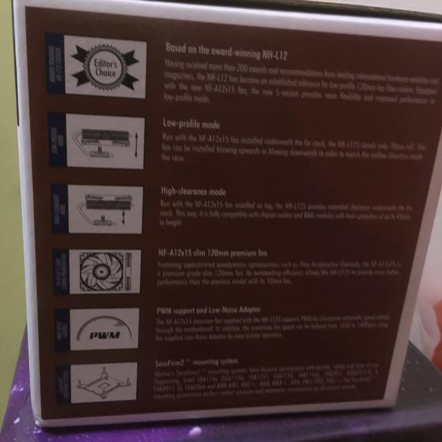 Noctua NH L12S low profile cpu fan with heatsink (AM4