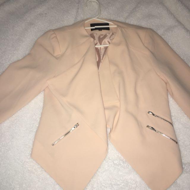 Nude pink blazer