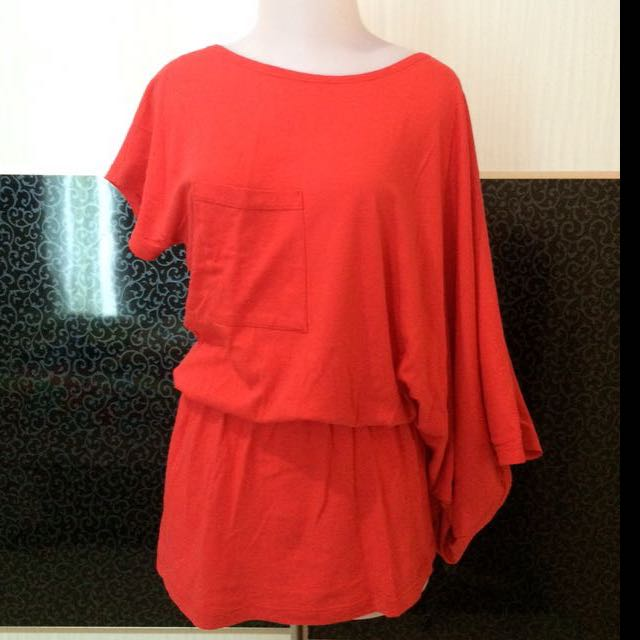 OneShoulder Orange Blouse / Dress