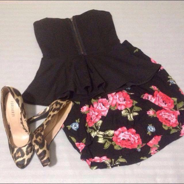 Overlap Floral Skirt by Kimchi Blue