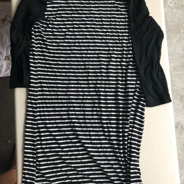Paper scissors long sleeve t-shirt dress