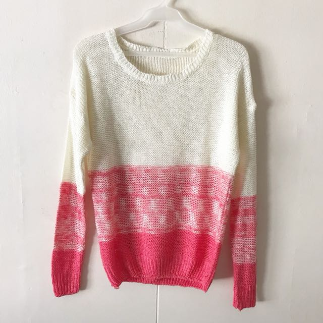 Pink Knit Pullover / Top