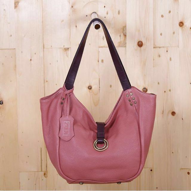 Pink zola leather bag
