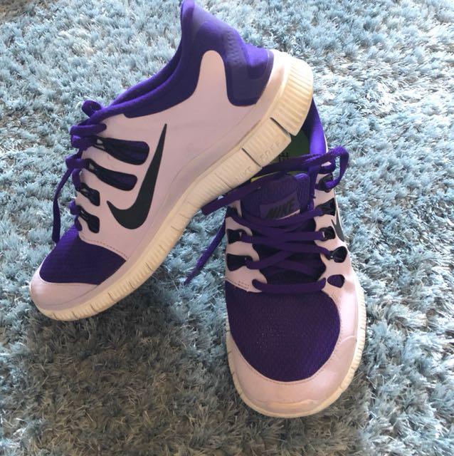 Purple Nike Free 5.0 Sneakers
