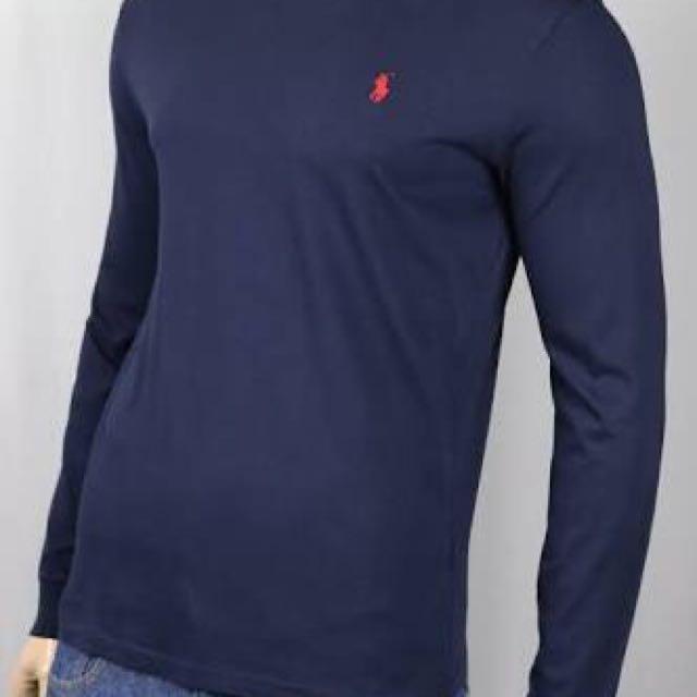 Ralph Lauren Long Sleeves Navy - Medium