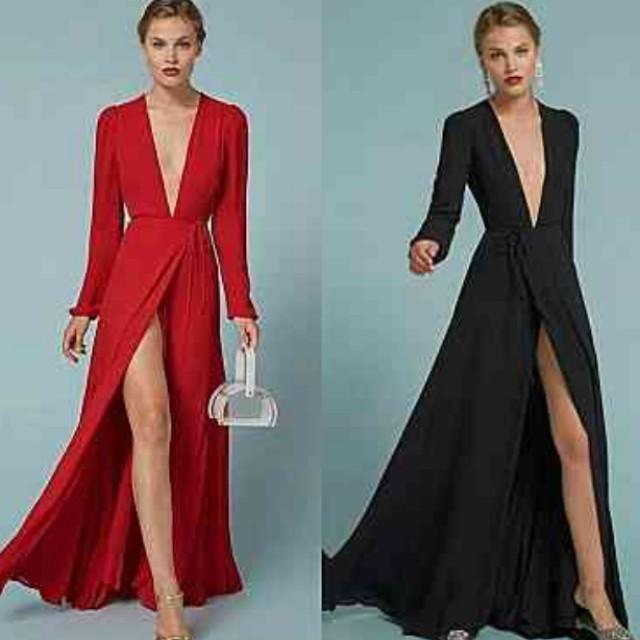 Red gaun