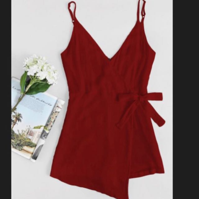 Red Wrap playsuit ❤️